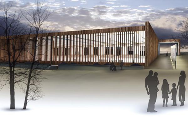 mehrfachbeauftragung, Entwurf einer dreifeld-sporthalle 2. platz
