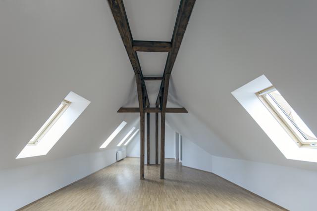 Modernisierung und Dachausbau eines denkmalgeschützten Stadtpalais in Karlsruhe - Dachstuhl