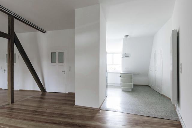 Modernisierung und Dachausbau eines denkmalgeschützten Stadtpalais in Karlsruhe - Küche