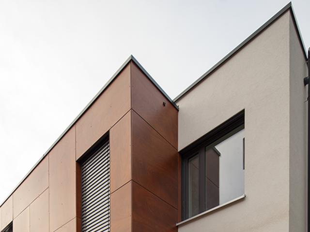 2 Anbau und Umbau eines Einfamilienhauses in Durlach - Ansicht Fassade