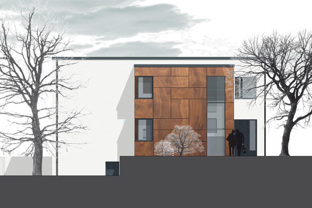 7 Anbau und Umbau eines Einfamilienhauses in Durlach - Ansicht Plan