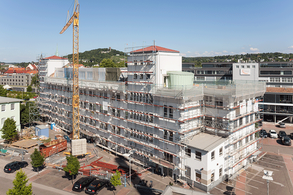 Raumfabrik Durlach, Dachausbau Gebäude 31
