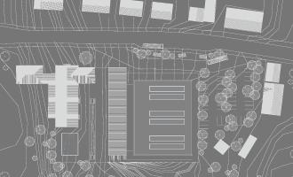 mehrfachbeauftragung, Entwurf einer dreifeld-sporthalle / 2. platz