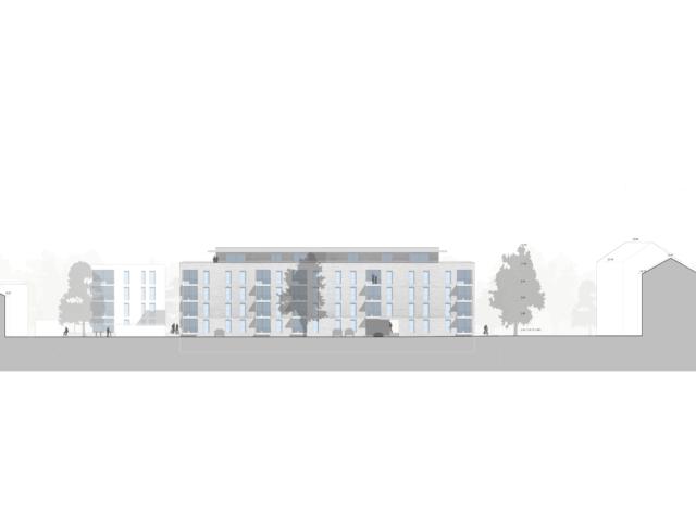 Mehrfachbeauftragung Wohnen in der Pfinzstraße Durlach Ansicht 1