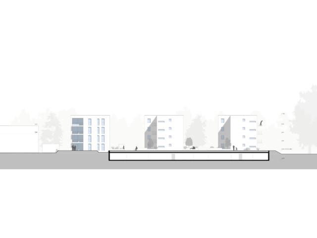 Mehrfachbeauftragung Wohnen in der Pfinzstraße Durlach Ansicht 2