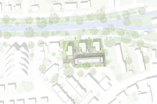 Mehrfachbeauftragung Wohnen in der Pfinzstraße Durlach Lageplan
