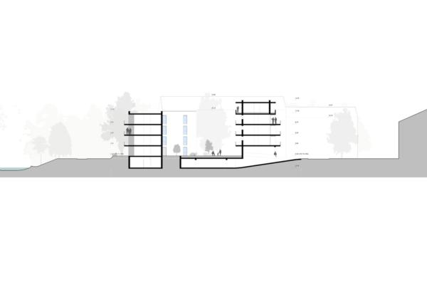 Mehrfachbeauftragung Wohnen in der Pfinzstraße Durlach Ansicht Schnitt Zeile und Punkt