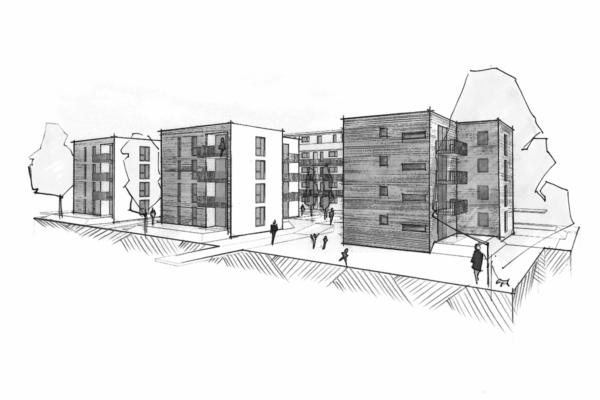 Mehrfachbeauftragung Wohnen in der Pfinzstraße Durlach