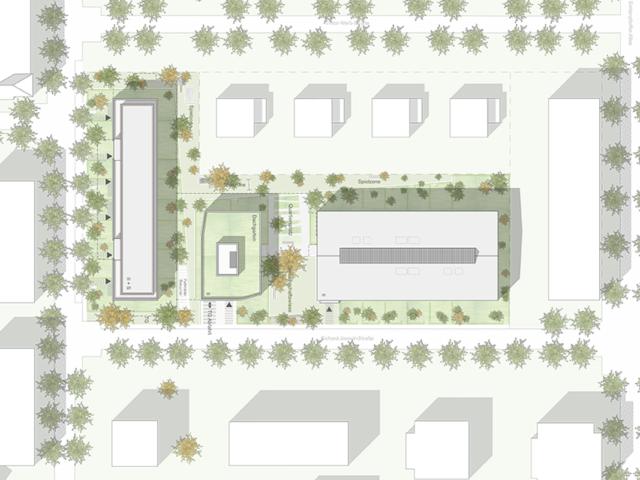 Neubau von Wohnungen als Zeile/Punkt in Landau Lageplan