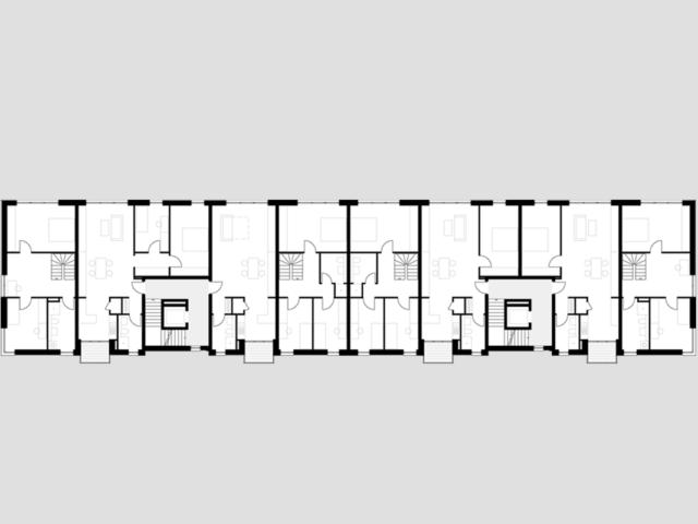 Neubau von Wohnungen als Zeile/Punkt in Landau Zeile 1.OG