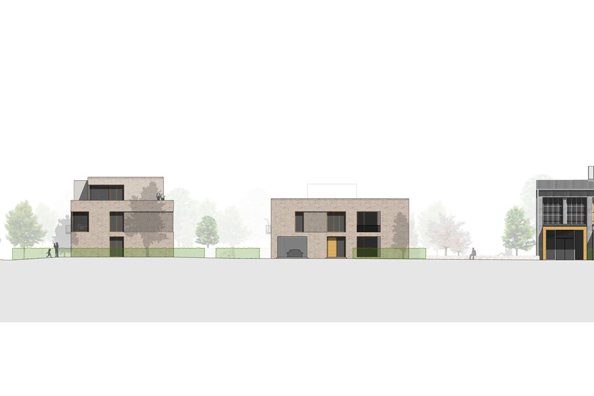 Neubau von Wohnungen als Zeile/Punkt in Landau Ansicht Zeile: Punkt