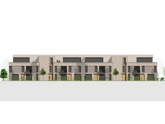 Neubau von Wohnungen als Zeile/Punkt in Landau Ansicht Süd
