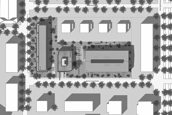 Neubau von Wohnungen als Zeile/Punkt in Landau Lageplan sw