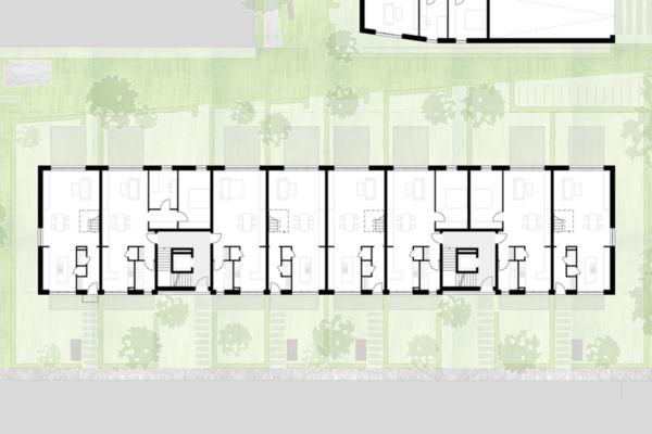 Neubau von Wohnungen als Zeile/Punkt in Landau EG