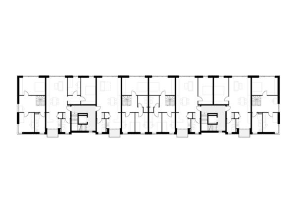 Neubau von Wohnungen als Zeile/Punkt in Landau 1.OG