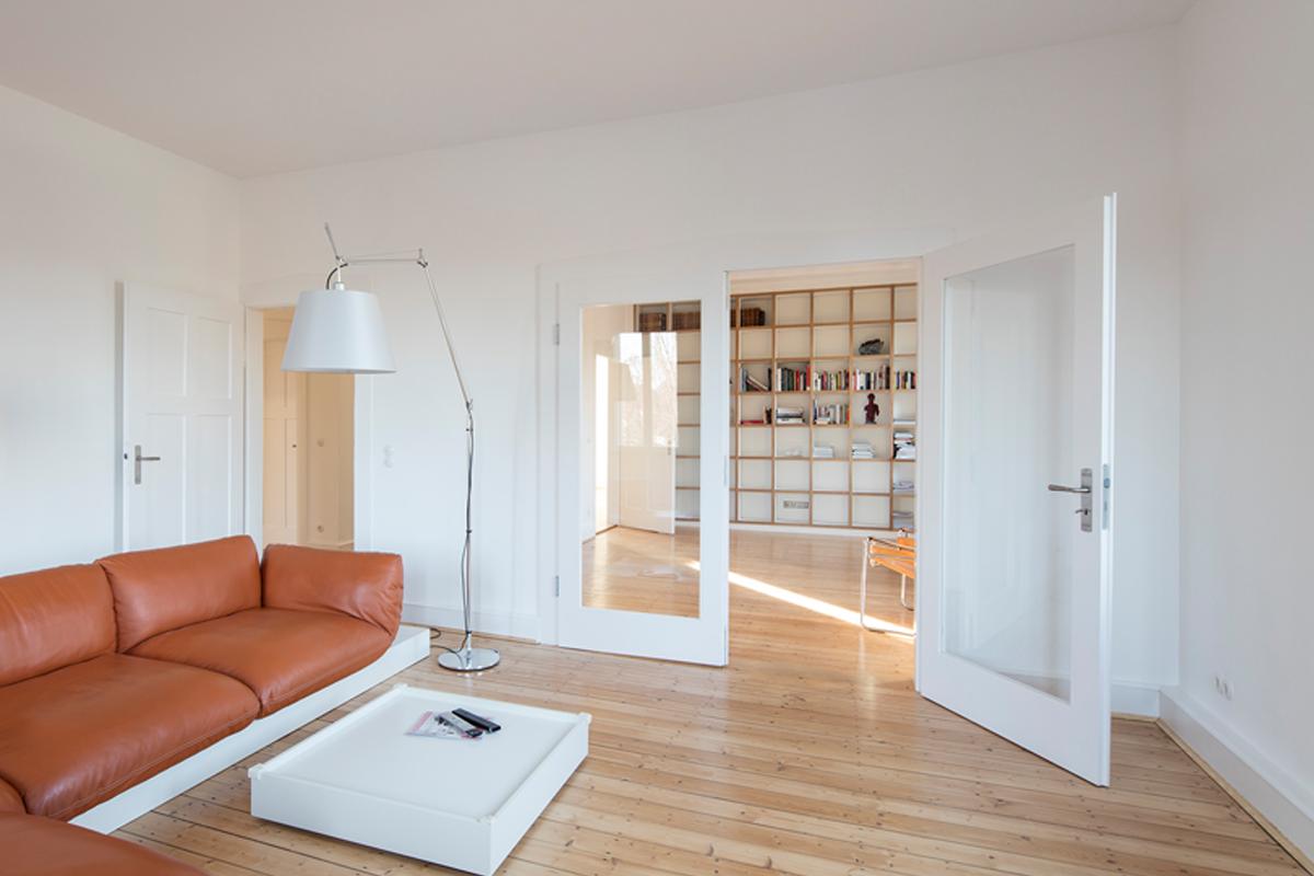 Kernsanierung eines Wohnhauses in Durlach Wohnzimmer