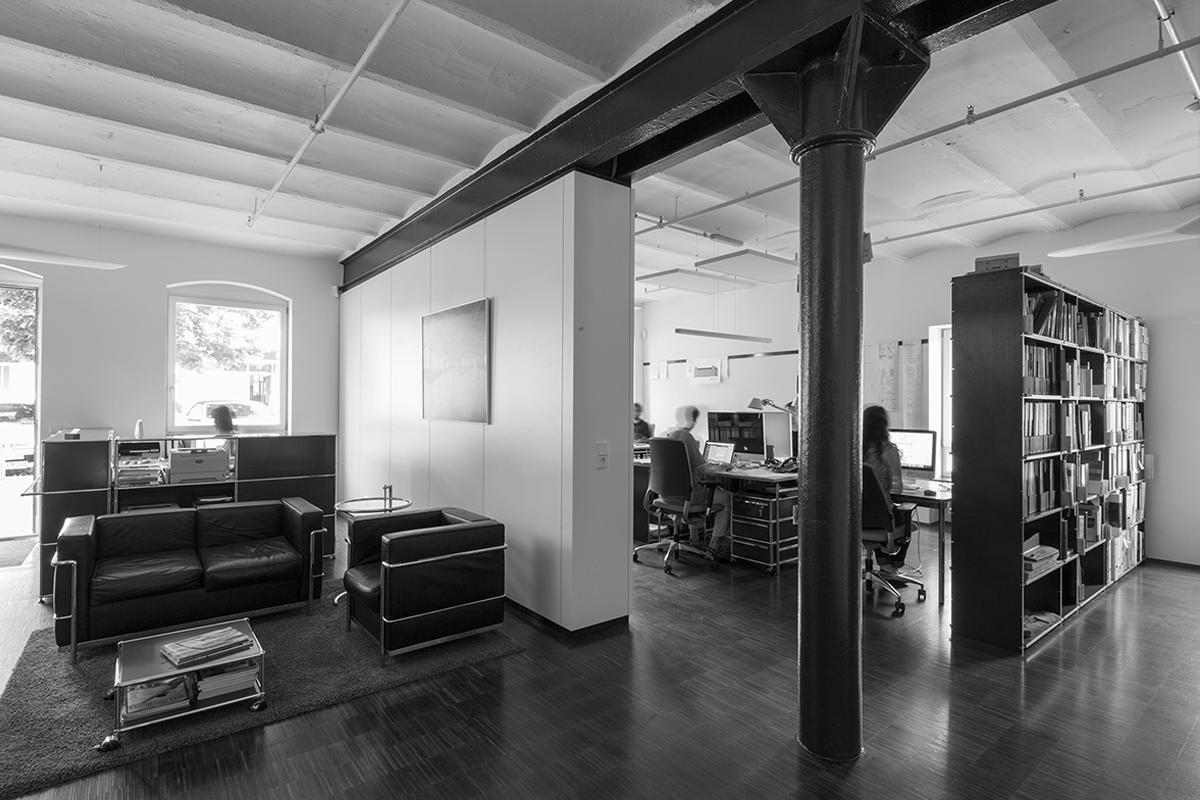 10.18.06 RaumFabrik 29 EG - Innenausbau von Lagerräumen für Büronutzung des Gebäudes 29 in der Raumfabrik Durlach