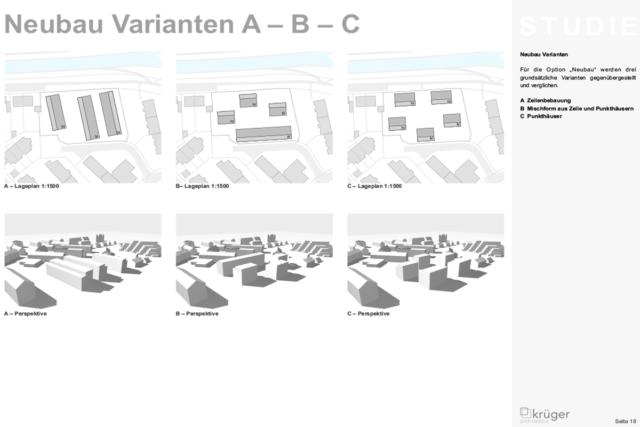 06__Studie Pfinzstraße DurlachÜbersicht Neubauvarianten